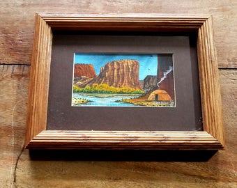 Eddie Tsosie Watercolor Painting, Signed and Framed, Navajo Art, Indian art, Native American art, Southwestern art, Eddie Tsosie
