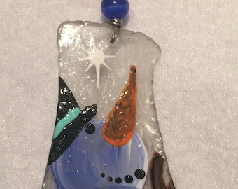 Hand Painted Snowman Christmas Decoration