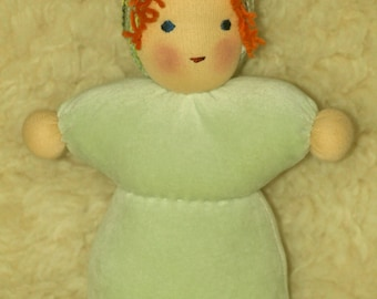 Sack Doll in lime green