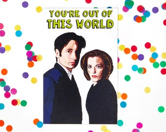 Valentine's Day Card, The X-Files Card (The Truth is Out There, Dana Scully, Fox Mulder, Birthday Card)