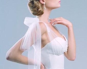 Amabile corset top bridal separates illusion straps