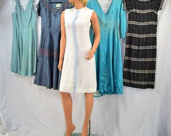 Lot of 5 Vintage 50's to 60's Rockabilly Swing Wiggle Dresses XS - Large (As Is)