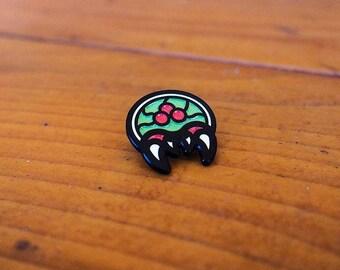 Little Alien / Metroid / Nintendo Enamel Lapel Pin