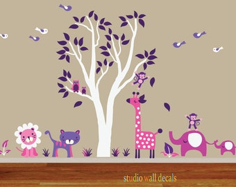 Childrens Nursery Tree Wall Decal  REUSABLE 945
