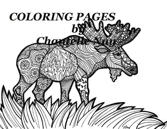 Moose Coloring Page Adult Coloring Picture Animals
