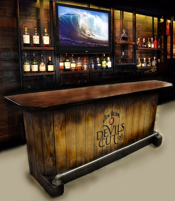 Man Cave Bar Cost : Home bar custom hand built rustic whiskey pub man cave barn