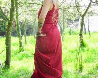 Tribal clothing ~ Festival dress ~ Gypsy long dress ~ Corset back dress ~ Long dress ~ Faeries ~ Goddess dress