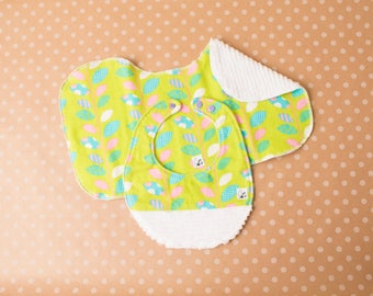 Baby girl Colorful Easter Pink Green Blue Newborn Baby gift set Flannel Chenille Bib Burp cloth Little Tommys Soft Absorbent Snaps