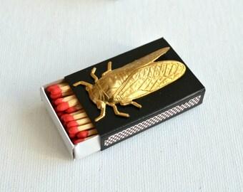 Metallic bug matchbox