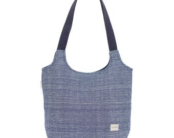 TOTE BAG. Handwoven tote bag, Canvas tote bag, Tote bag with pocket, Everyday tote bag, Minimal tote, Minimalist bag, Wool purse, Wool bags