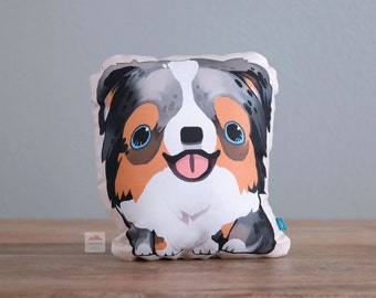 Blue Merle Australian Shepherd Pillow