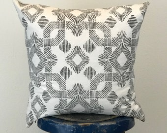 Black and White Wesley Pillow Cover