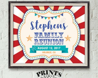 """Family Reunion Sign, Family Sign, Family Reunion Banner, Family Carnival Sign, Family is a Circus Sign, PRINTABLE 8x10/16x20"""" Reunion Sign"""