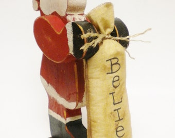 Folk Art Santa, Primitive Christmas, Christmas Decor