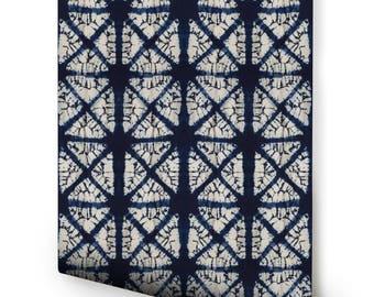 Indigo Diamond Wallpaper