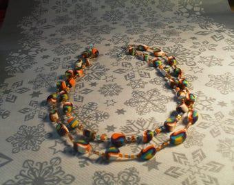 beautiful unique, stylish, original, handmade Necklace (multicolor)