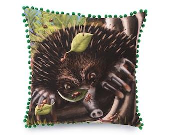 Echidna Cushion Cover - decorative pillow, throw pillow, animal cushion, animal pillow, 45 x 45cm