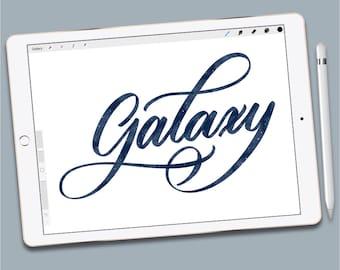 Custom Procreate Brush:  Galaxy Brush
