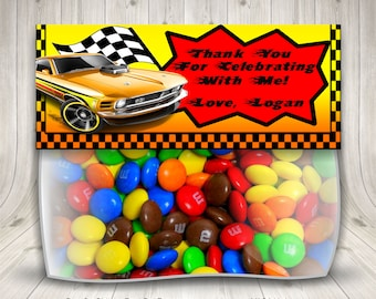 Race Car Party, Treat Bag Topper, Stock Car,  Nascar Racing, Race Car Birthday, Birthday Party Favor, Hot Wheels Birthday, Boy Birthday