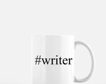 Gifts for writers | #writer | mug | author gift | coffee mug | writing | tea mug | minimalist | Mother's Day gift