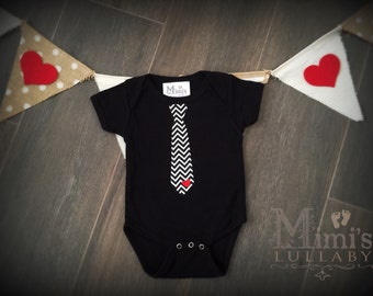 Baby boy valentines day onesie