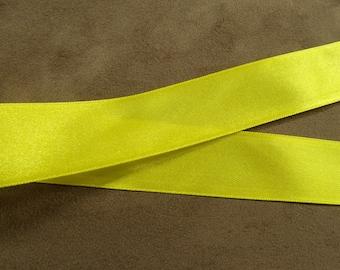 2.5 cm - yellow satin ribbon