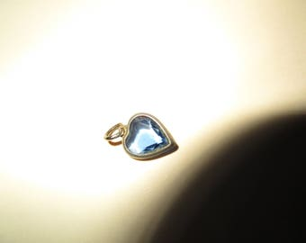 Little Sapphire (September) Heart CHARM for Necklace or Charm Bracelet