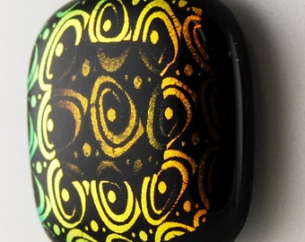 2804 large dichroic cabochon - free shipping