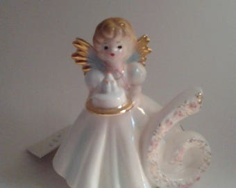 Vintage Josef Birthday Angel 6 yr Old
