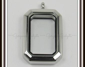 Floating Locket / Glass Locket / Memory LocketPendant Stainless Steel