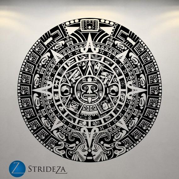 Mayan Calendar Wall Art : Aztec calendar wall decal
