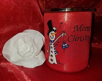 Monogrammed,  Tumbler Cup Cover for Lowball Cups