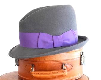 Men's Felt Fedora Hat Felt Hat For Men Handmade Men's Hat 1920's Men's Hat Fall Fashion Winter Hat Custom Hat Men's Gift