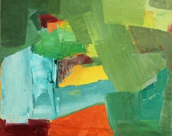 Door A original abstract oil painting