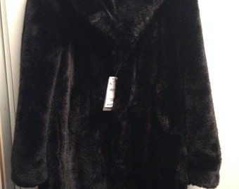 Man black eco furcoat size XL Zara,Brand New. very warm