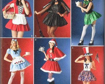 New Simplicity Costume Pattern #4015 Misses' Sz 10-16   Assorted Holiday Costumes Uncut Factory Folded