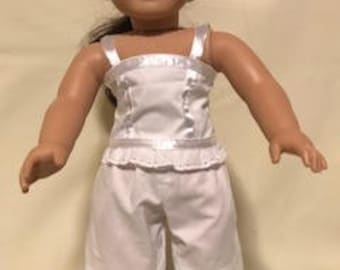 American Girl doll camisole, bloomers and petticoat