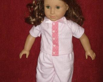 American Girl doll flannel pajamas