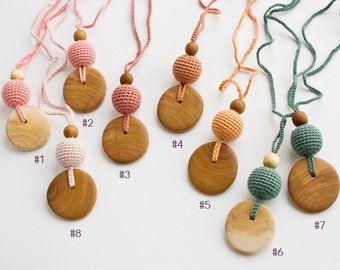 Pure Silk & Wood Teething Necklace | Nursing Necklace | Mom Necklace | Breastfeeding | Teething Beads | New Mom Gift | NP18-NP23