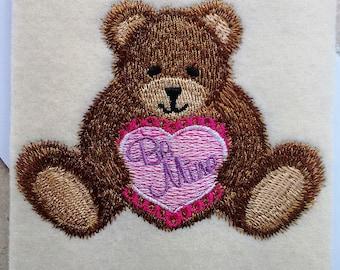 Valentine Day Cards - Teddy Bear with Heart