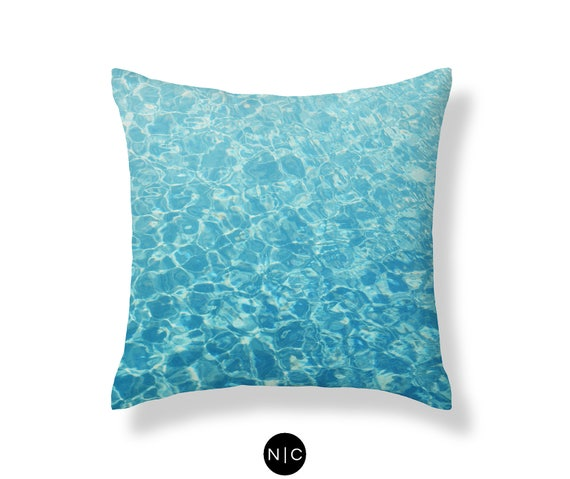 Kristall Ozeane Kissen Tropical Blue Beach Surf Karibik