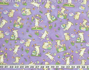 "Easter Bunnies Cotton Yardage - 45"" Wide Cotton Fabric"