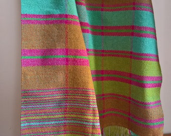 Woman's Shawl, Handemade Scarf, Colorfull Shawl, Wool Scarf, Handwoven Scarf, Ladies Scarf