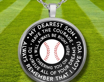 Boys Necklace From Dad - Baseball Gifts For Son - Baseball Necklaces - Baseball Gift