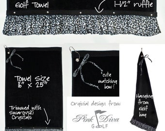 Leopard Girl - Golf Towel