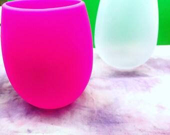 Silicone stemless wine glass