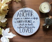 First Home Gift, Housewarming Gift, Home Embroidery, Embroidery Hoop, New Home Housewarming Gift, New Home Gift, Home Decor Rustic, Kimart