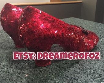 50% off: Custom Made 5mm Semi-aged Metallic/Translucent Red Flat Sequins - Hank of 10,000
