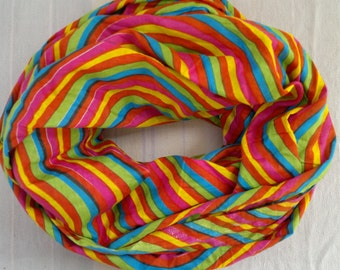 Long Scarf Indian Cotton Scarf Multicolor Scarf LSF0