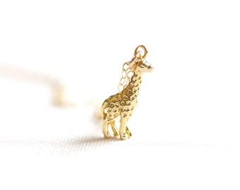 Gold Giraffe Necklace | 14kt Gold Filled